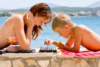 Board Games on the Beach
